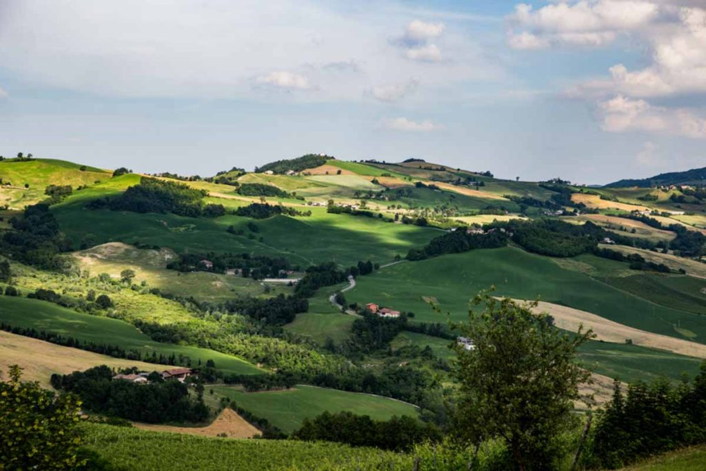 Le colline della Val Tidone