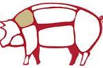 Le parti del maiale usate per la coppa piacentina