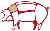 Coppa piacentina i tagli del maiale