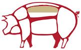 Lombetto i tagli del maiale