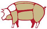 Salame piacentino i tagli del maiale